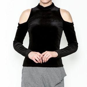 Mossimo Supply Black Velvet Long Sleeve Top sz. L